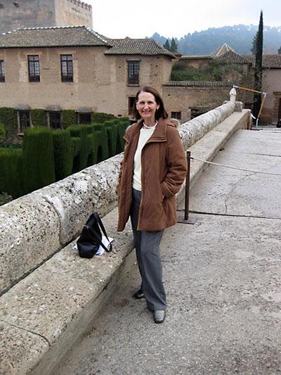 Julia at the Alhambra, Granada